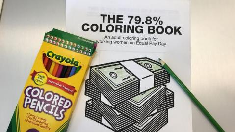 The Equal Pay Day coloring book.