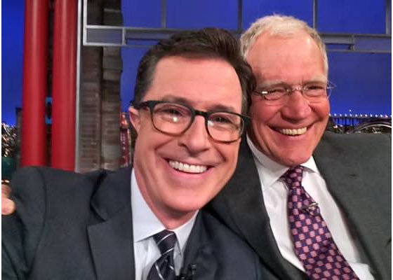 Charleston, SC, native Stephen Colbert with David Letterman, via CBS
