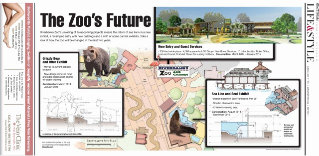 Full-page graphic of popular zoo's expansion plans had an online companion made in Hype
